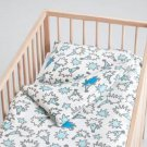 IKEA TASSA IGELKOTT CRIB Hedgehog Duvet COVER Pillowcase SET Nursery Bedding BLUE White