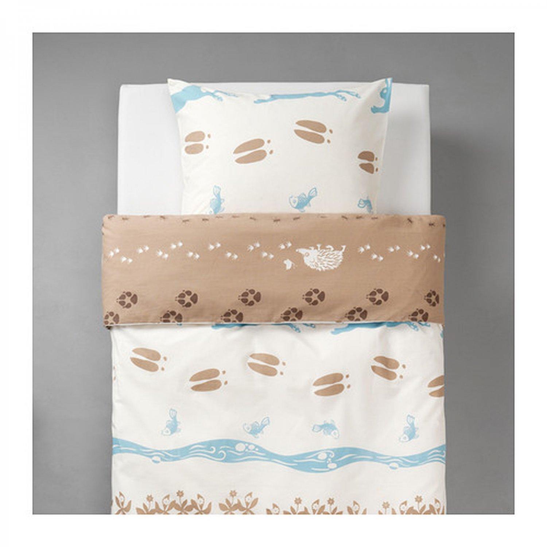 Ikea vandring skogsliv twin duvet cover pillowcase set for Ikea comforter duvet cover