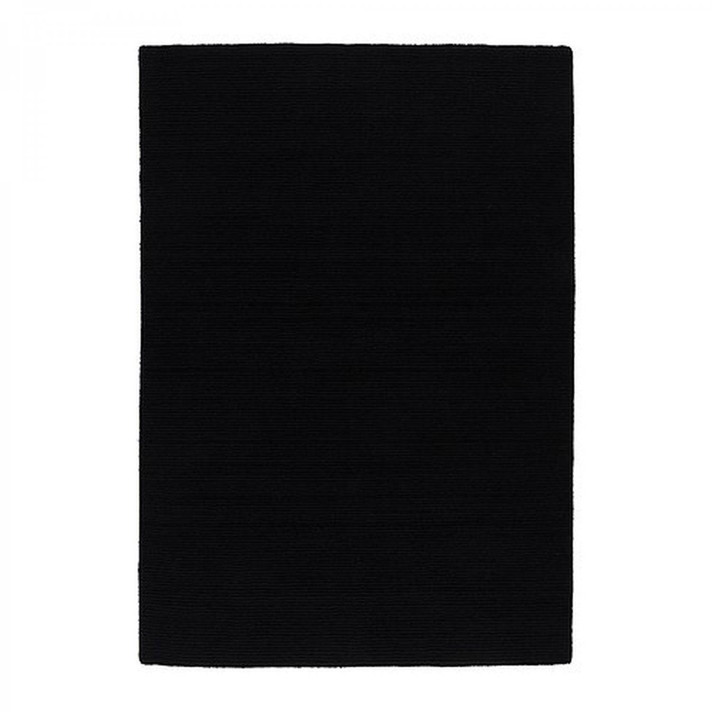 IKEA ALMSTED BLACK Area RUG Mat WOOL Modern Classic Low Pile 4u00277