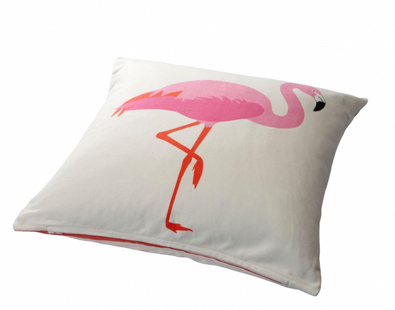 Ikea springkorn cushion cover pink flamingo pillow sham for Ikea uk cushion covers