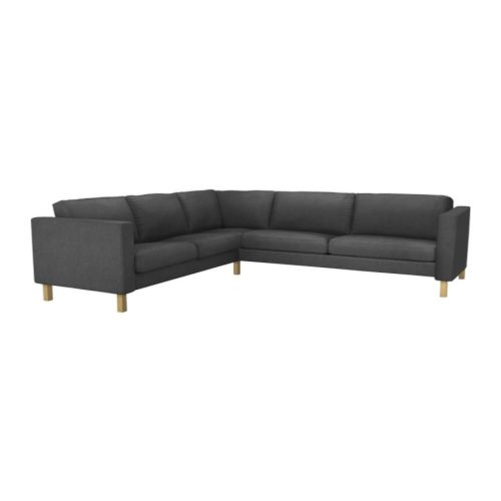 ikea karlstad corner sofa slipcover cover sivik dark gray. Black Bedroom Furniture Sets. Home Design Ideas