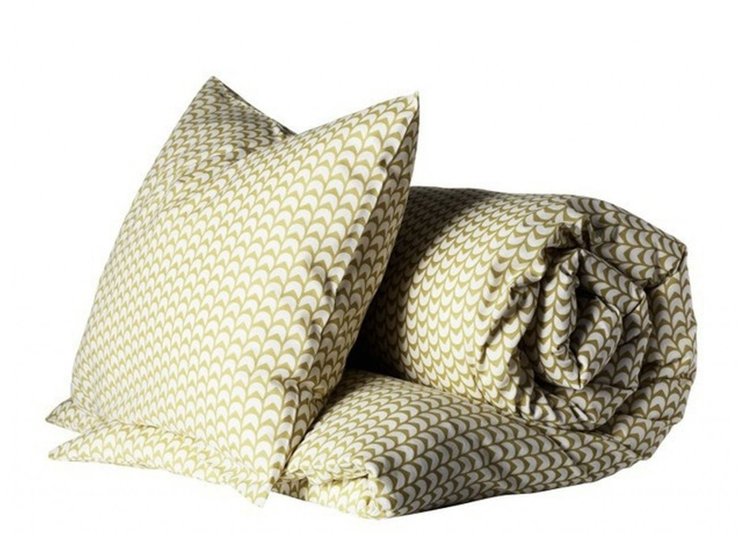 ikea jorun form queen full double duvet cover pillowcases set yellow olive green white abstract - Duvet Covers Ikea