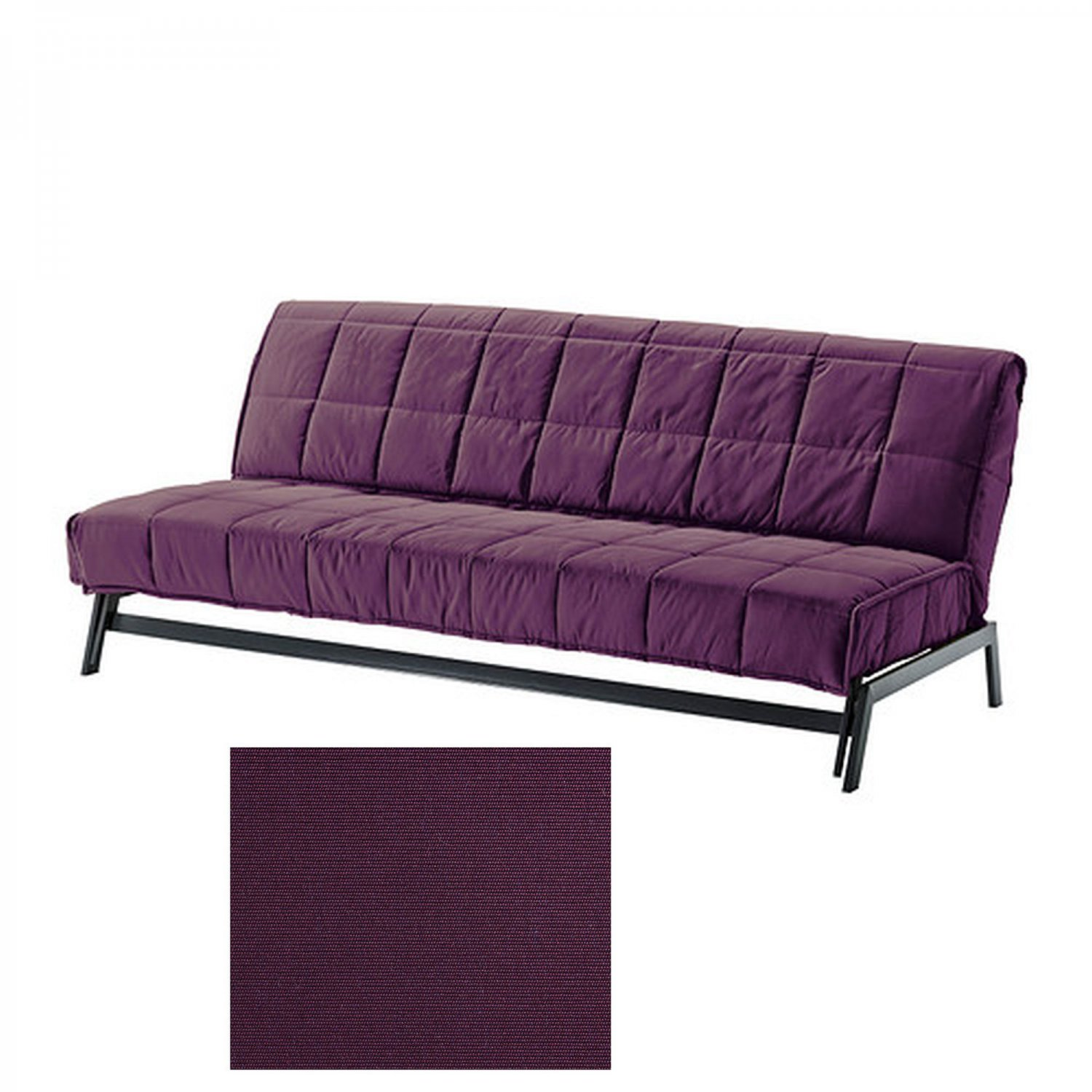 ikea karlaby sofa bed sofabed slipcover cover sivik dark lilac purple. Black Bedroom Furniture Sets. Home Design Ideas