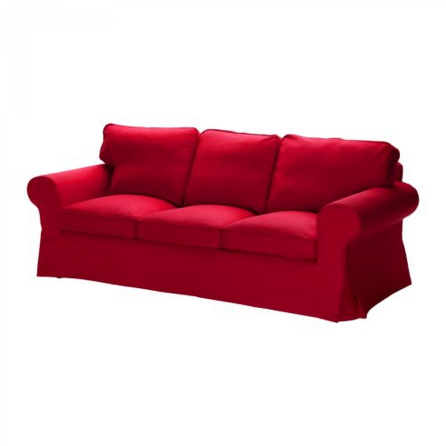 Ikea ektorp 3 seat sofa slipcover cover idemo red for 3 on a couch