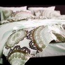 Ikea LYCKOAX BROWN Beige White DUVET COVER Set KING Lace Brown Beige LAST ONE