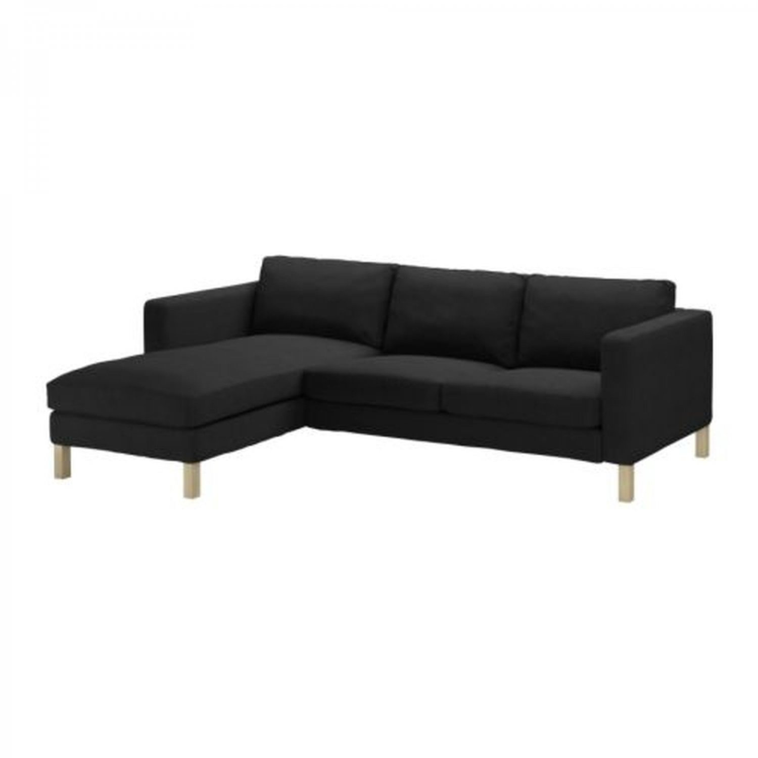 ikea karlstad 2 seat loveseat sofa and chaise slipcover. Black Bedroom Furniture Sets. Home Design Ideas