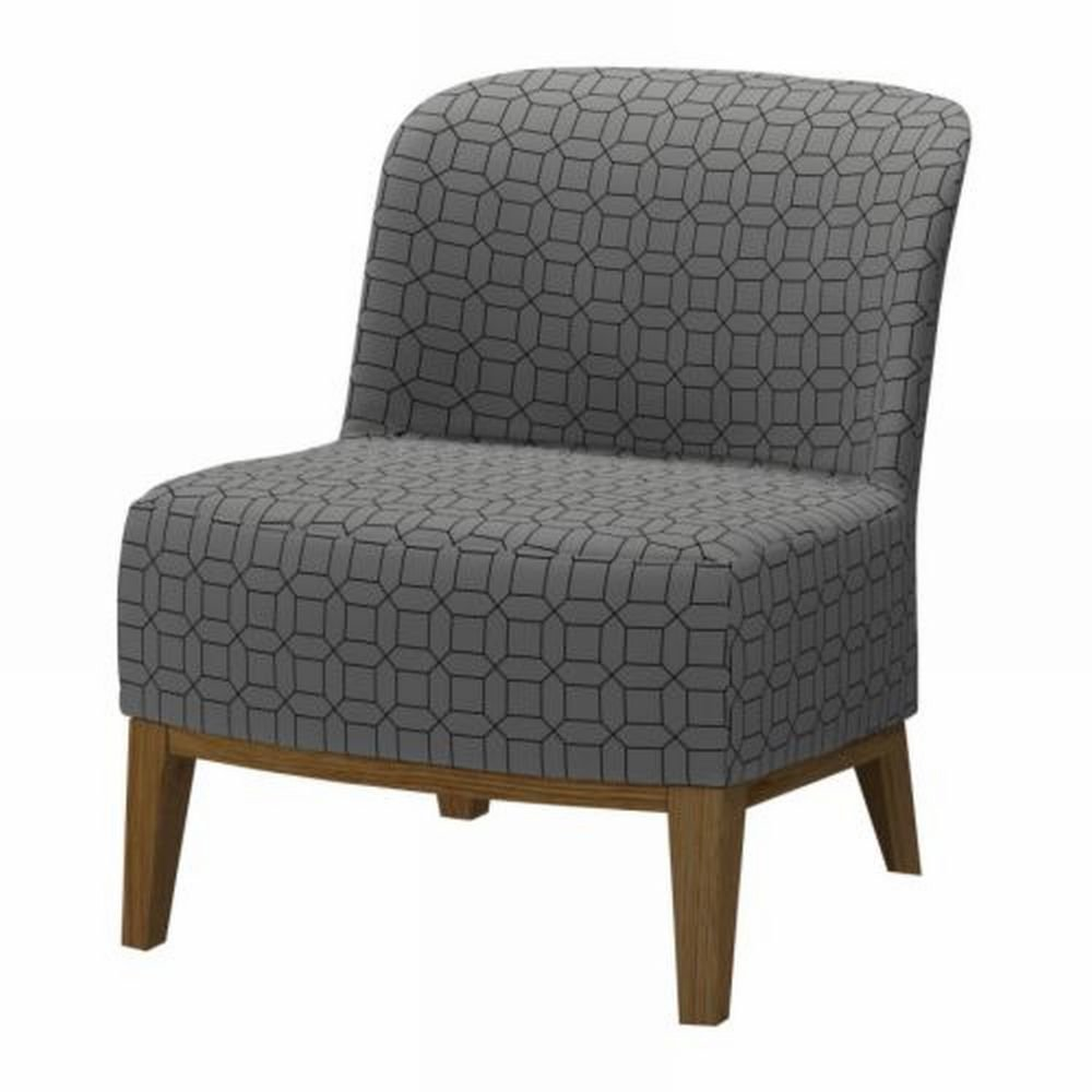 Ikea stockholm easy chair slipcover cover figur gray grey geometric bezug housse - Housse fauteuil ikea stockholm ...