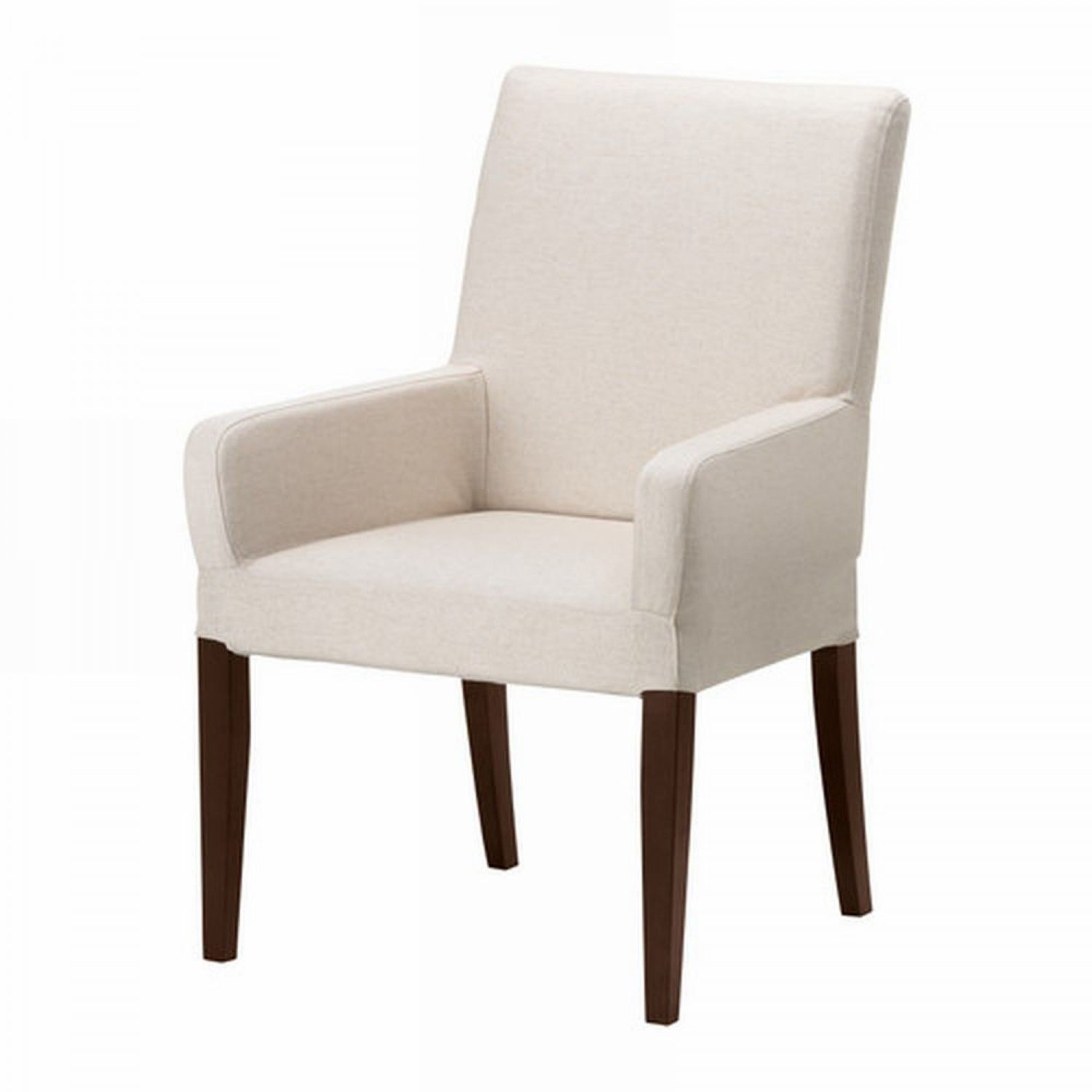 ikea henriksdal chair w arms slipcover cover 21 54cm linneryd natural beige armrests. Black Bedroom Furniture Sets. Home Design Ideas