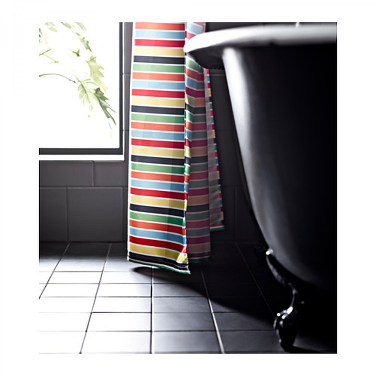Ikea Einrichtungsplaner Jugendzimmer ~ IKEA BOKVIK Fabric SHOWER CURTAIN Stripes Multicolor Cabana Horizontal