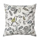 "IKEA SNABBVINGE Cushion COVER Pillow Sham BIRDS Flowers Leaves 20"" x 20"""