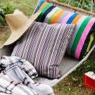 "IKEA ELVILDA Cushion COVER Pillow Sham STRIPES Brown 20"" x 20"" Multicolor"