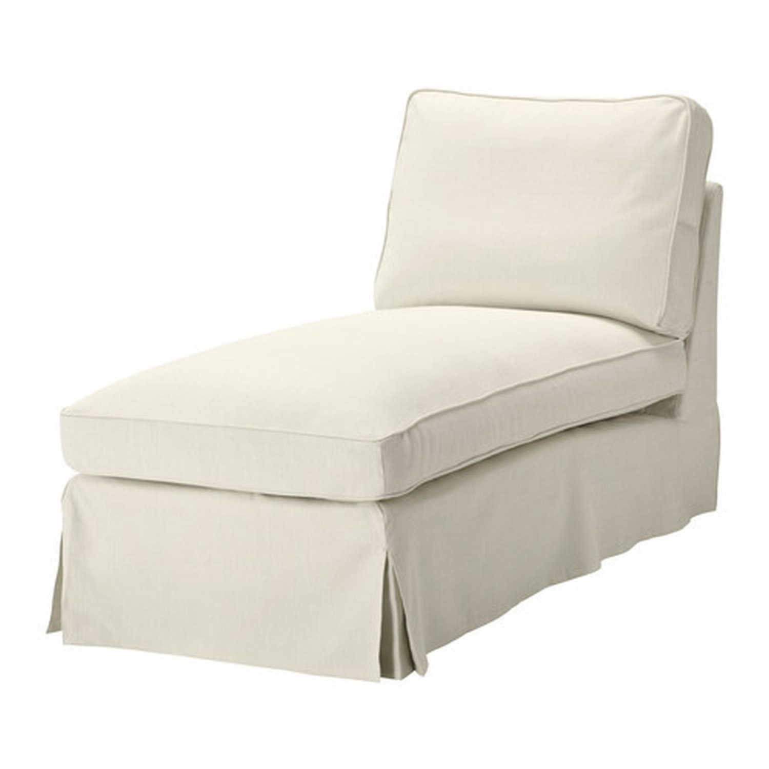 Ikea ektorp free standing chaise longue cover slipcover for Chaise longue or chaise lounge