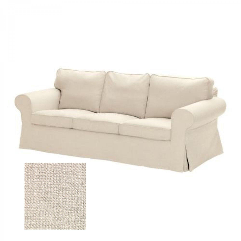 ikea ektorp 3 seat sofa slipcover cover svanby beige linen blend. Black Bedroom Furniture Sets. Home Design Ideas