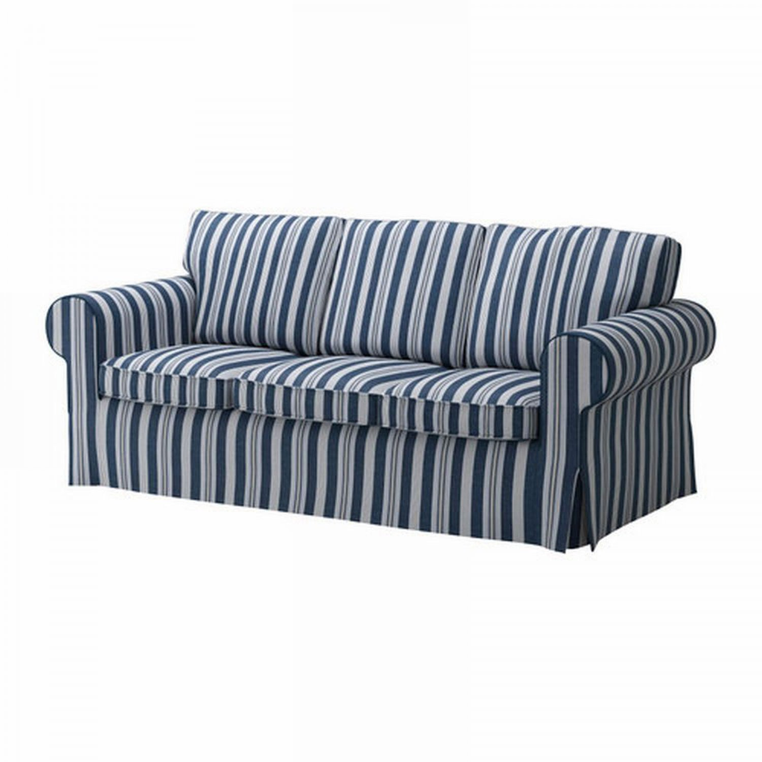 ikea ektorp 3 seat sofa cover slipcover abyn blue white stripes byn. Black Bedroom Furniture Sets. Home Design Ideas