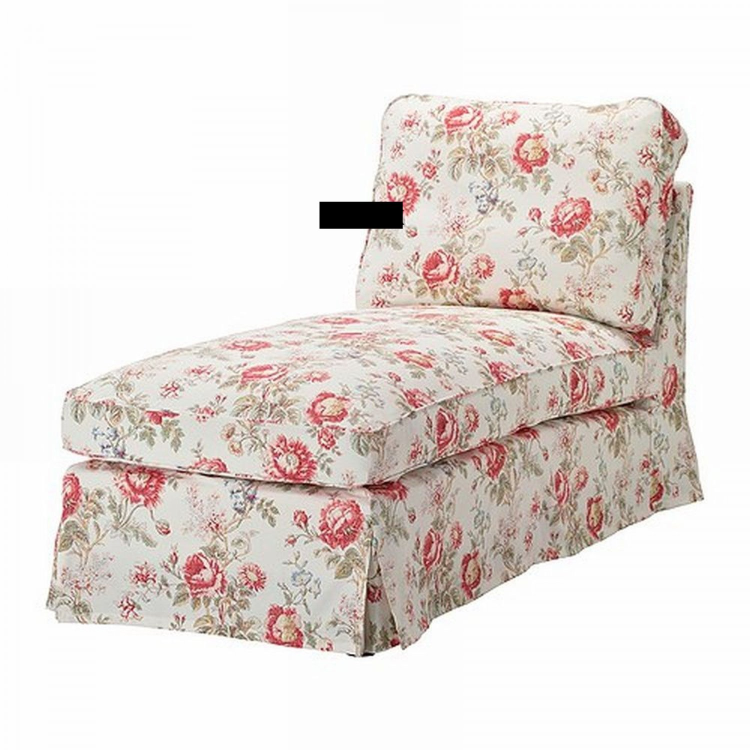 ikea ektorp chaise longue slipcover cover byvik multi floral rose peony. Black Bedroom Furniture Sets. Home Design Ideas