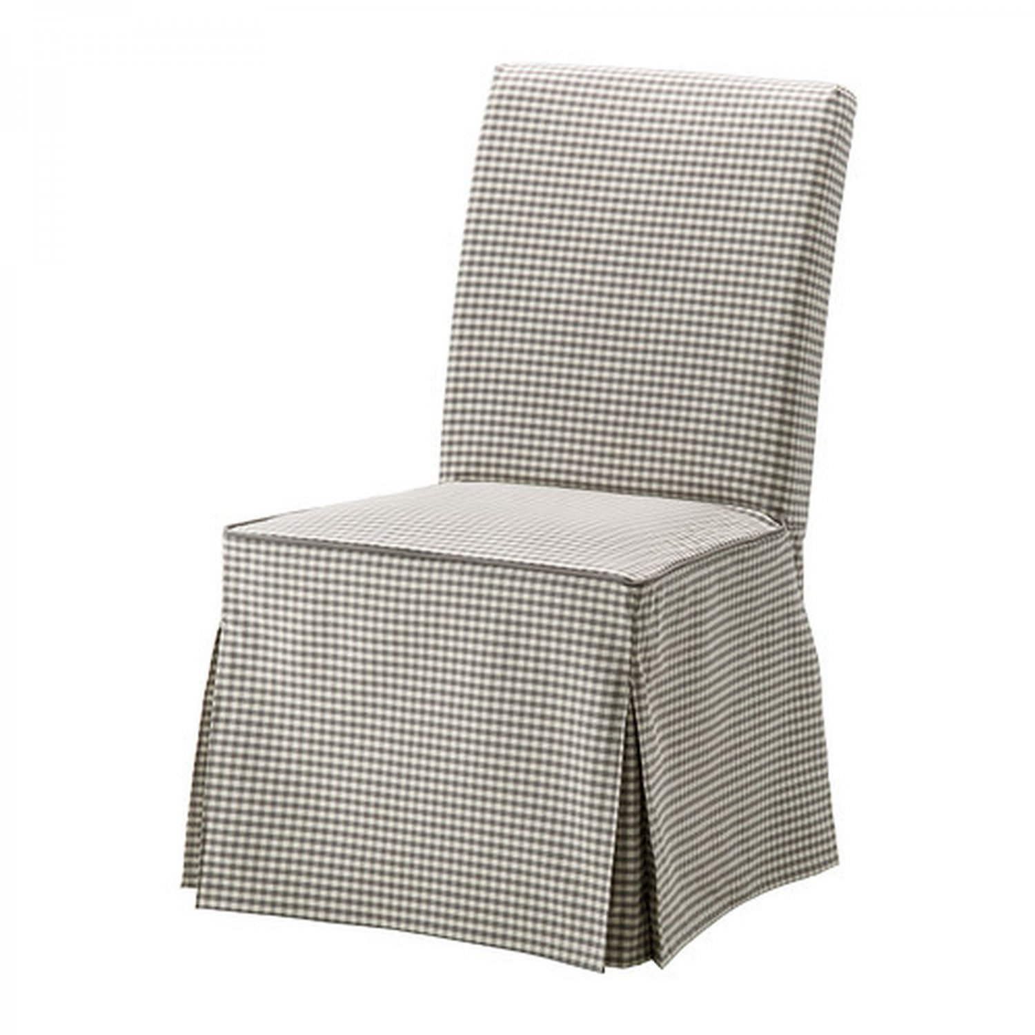 ikea henriksdal chair slipcover cover skirted sagmyra gray white checked s gmyra. Black Bedroom Furniture Sets. Home Design Ideas