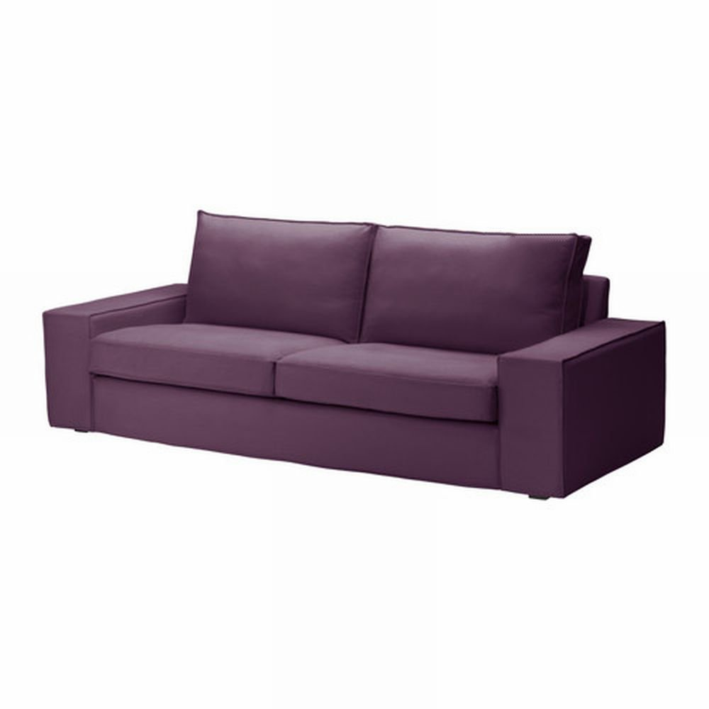 Ikea kivik 3 seat sofa slipcover cover dansbo lilac purple for Ikea divan