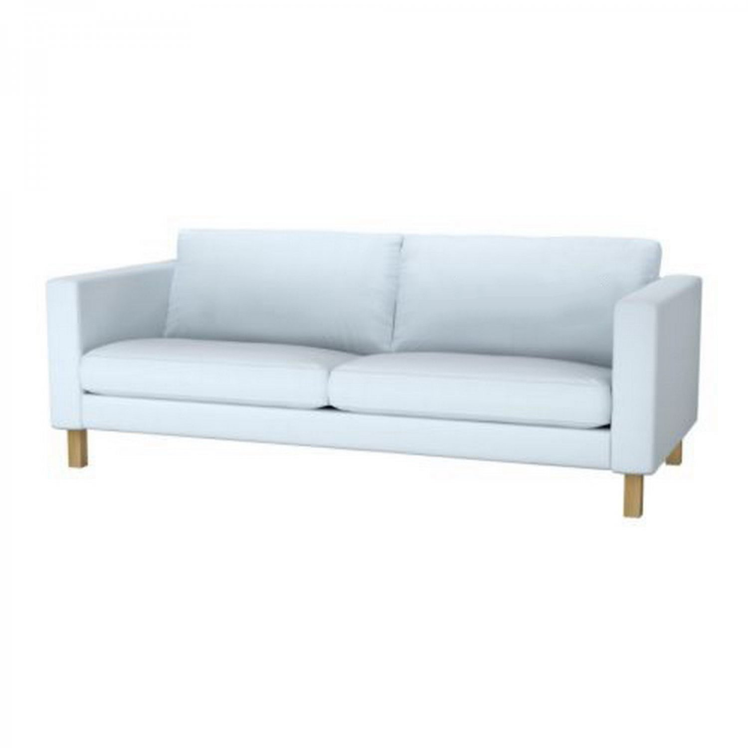 Light blue sofa slipcover ektorp cover two seat sofa nordvalla light blue ikea Blue loveseat slipcover