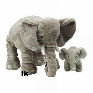 IKEA Klappar ELEPHANT Elefant MOM ( Dad  ) + BABY Soft Plush Toy XMAS NWT