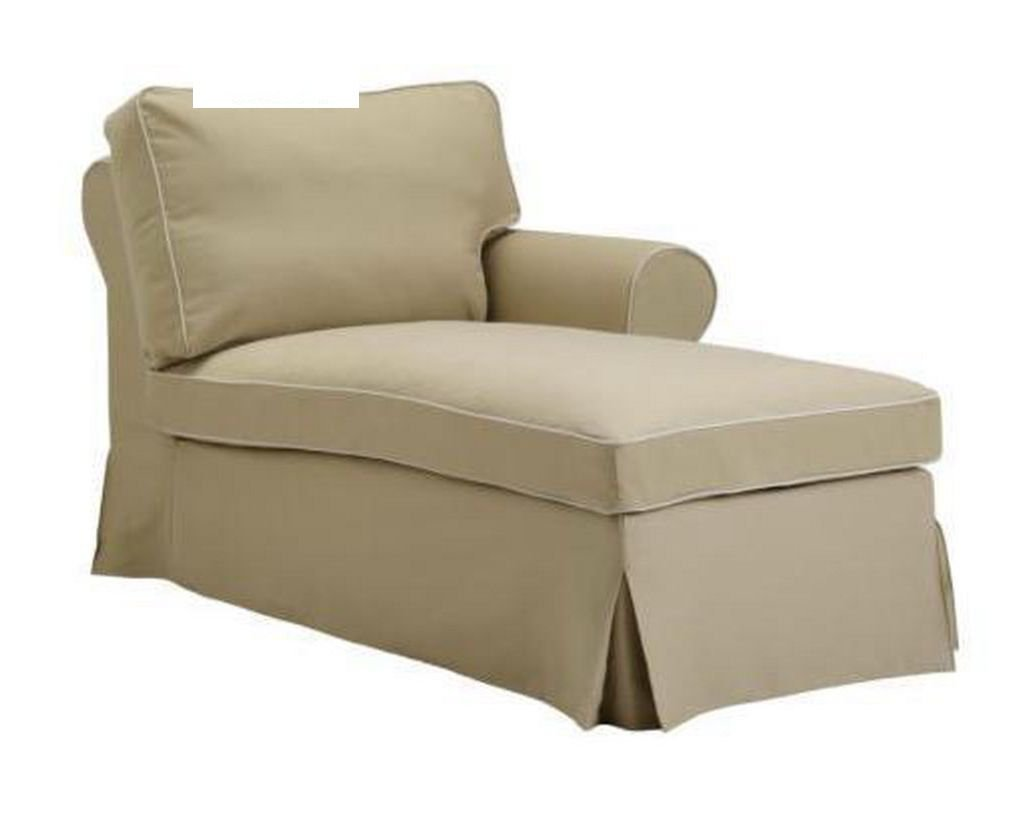 Ikea ektorp right hand chaise longue slipcover cover idemo beige - Chaise longue jardin ikea ...