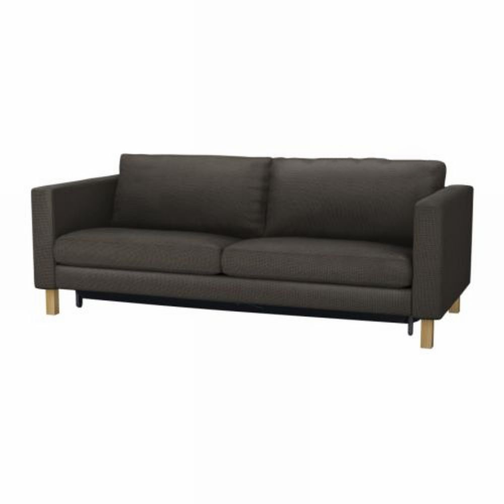 Ikea karlstad sofa bed sofabed slipcover cover korndal brown for Ikea divan