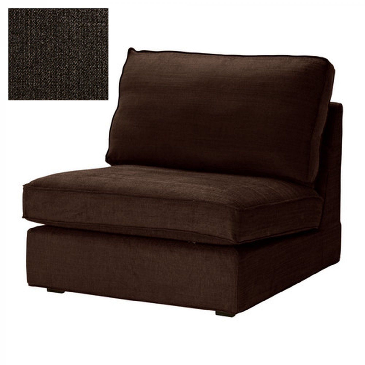 ikea kivik 1 seat sofa slipcover chair cover tullinge dark brown brown bezug housse. Black Bedroom Furniture Sets. Home Design Ideas