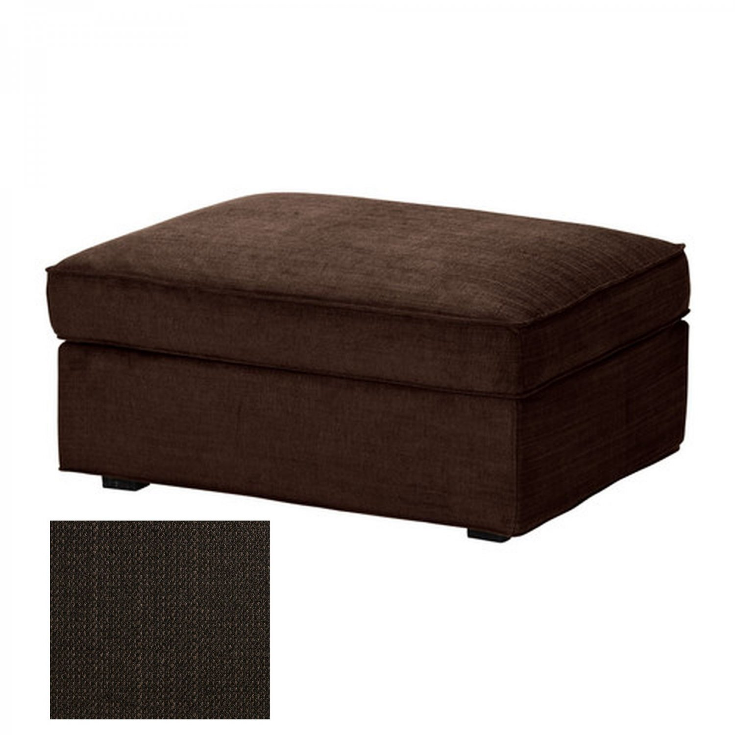 ikea kivik footstool slipcover ottoman cover tullinge dark brown bezug housse. Black Bedroom Furniture Sets. Home Design Ideas