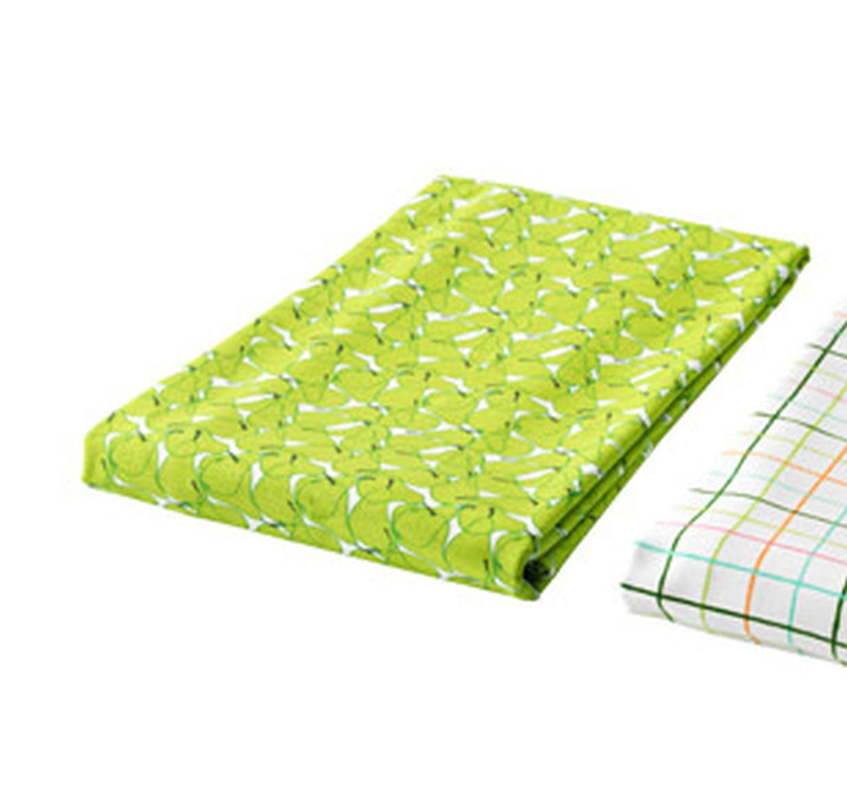 IKEA SOMMAR 2015 TABLECLOTH Pears GREEN White Cotton Fruit Limited Edition Summer Design