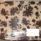 IKEA RANSBY KING Duvet COVER Set BROWN Beige FLORAL Leaf  MID CENTURY Retro
