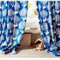 "IKEA KAJSAMIA CURTAINS Drapes 2 Panels BLUE Grommets 98"" Long"