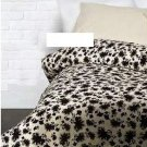 IKEA RANSBY TWIN Single Duvet COVER Set BROWN Beige FLORAL Leaf  MID CENTURY Retro