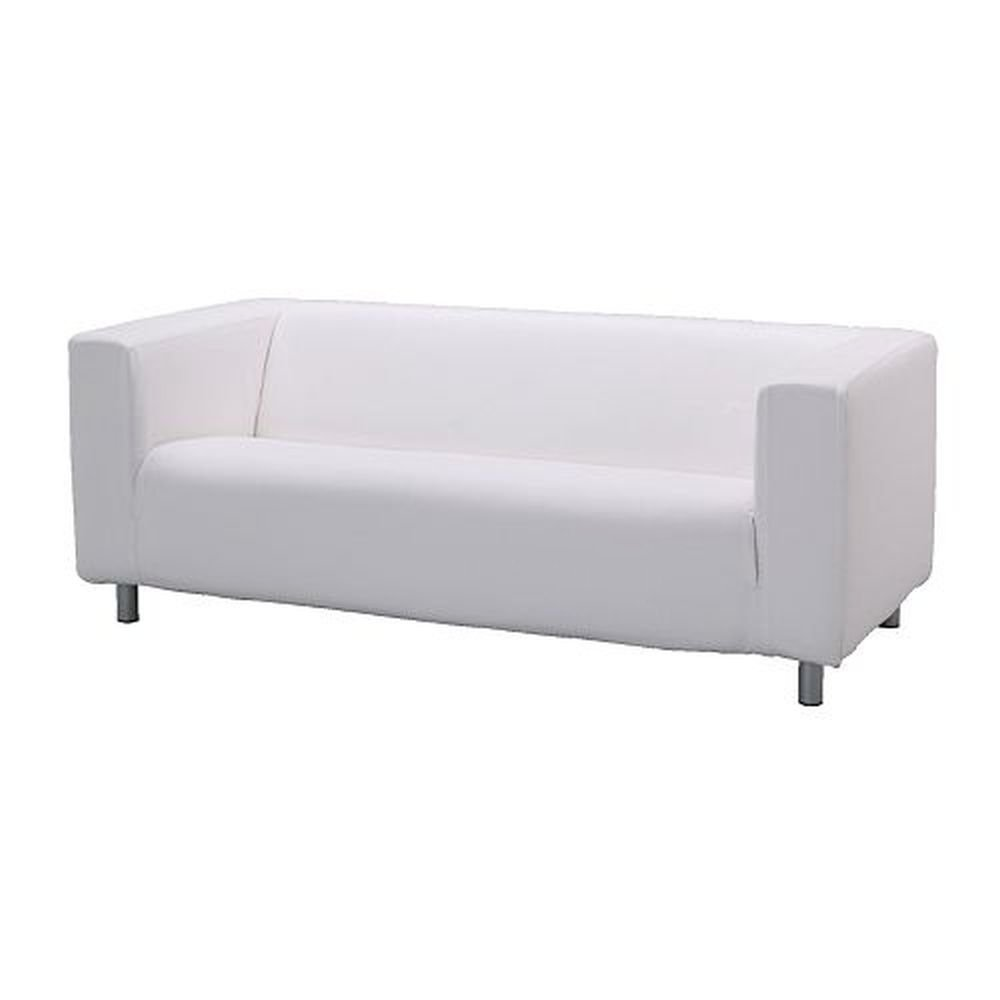 Ikea klippan sofa slipcover cover alme white 100 cotton for Ikea divan