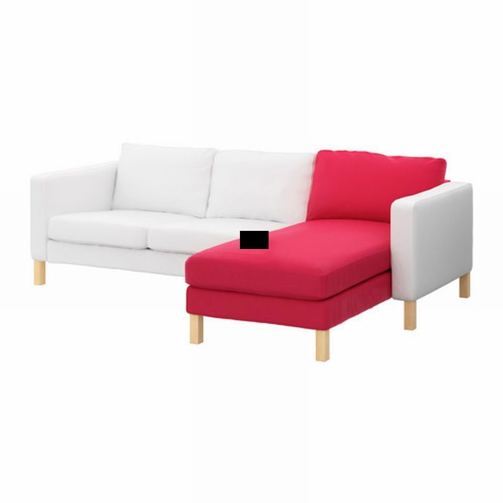 Ikea karlstad add on chaise slipcover cover sivik pink red pink red mid centu - Ikea chaise stockholm ...