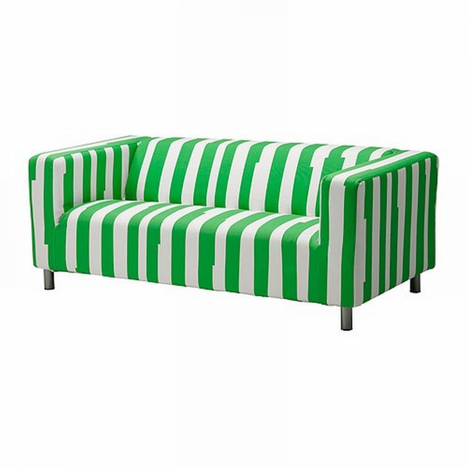 Ikea Klippan Loveseat Sofa Slipcover Cover Ranten Green Stripes