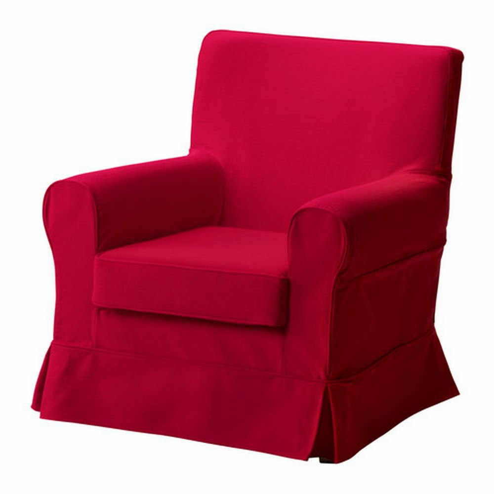 ikea ektorp jennylund armchair slipcover idemo red chair cover. Black Bedroom Furniture Sets. Home Design Ideas
