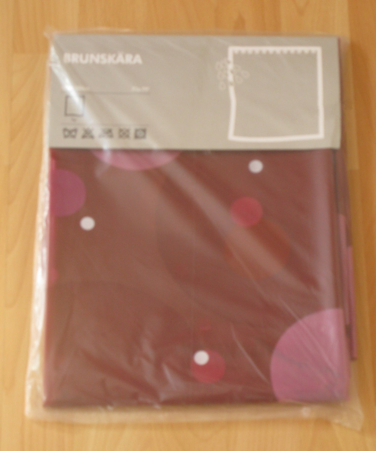 Ikea BRUNSKARA SHOWER Curtain RED Dots MOD Retro 79""