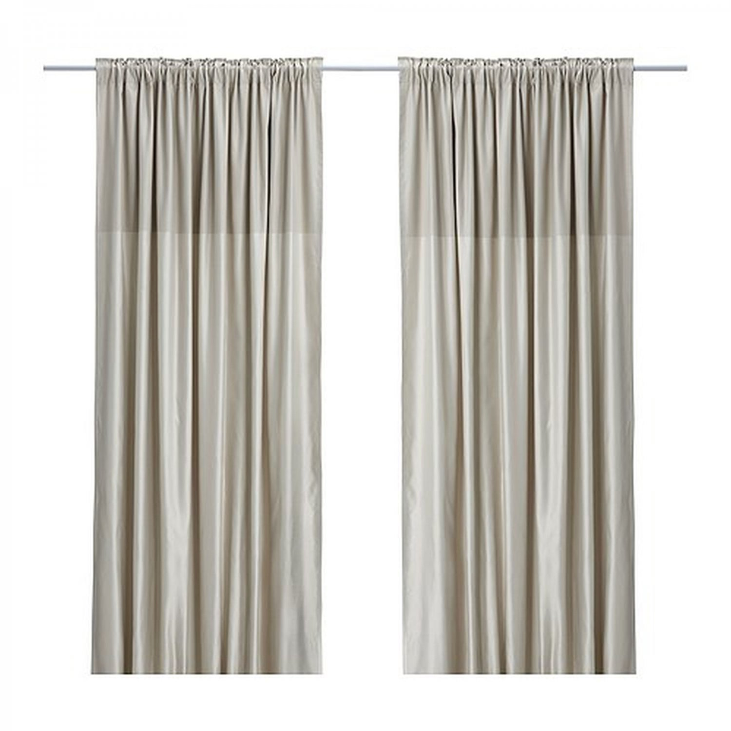 ikea dagny curtains drapes beige two tone satin classic 98. Black Bedroom Furniture Sets. Home Design Ideas
