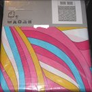 IKEA  MYRLILJA QUEEN Full Duvet COVER Set RETRO Swirl PINK Yellow Blue LAST ONE