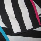 IKEA MYRLILJA BLACK White STRIPES Area Throw RUG MAT w pink blue Flatwoven Reversible