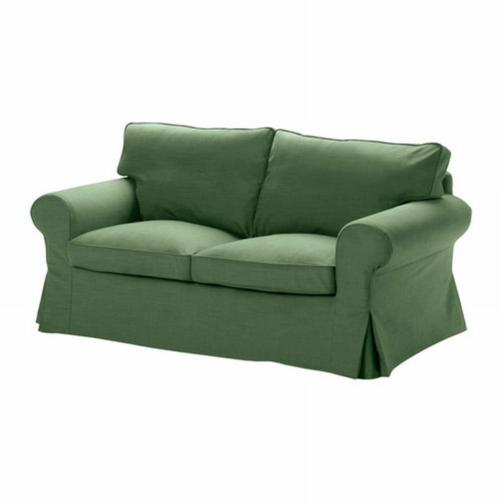 Ikea ektorp 2 seat sofa slipcover loveseat cover svanby green Cover for loveseat