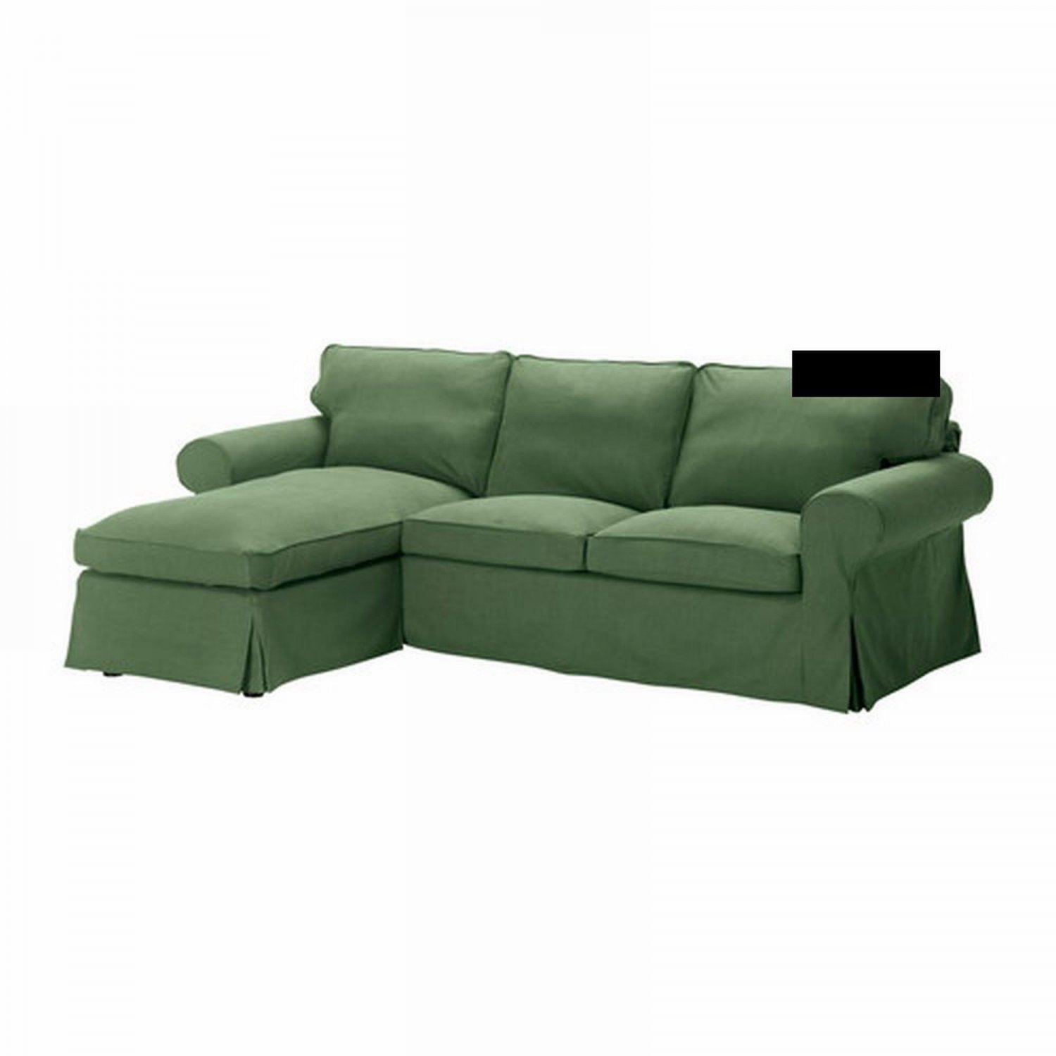 Ikea ektorp 2 seat loveseat w chaise cover 3 seat for Chaise couch slipcover