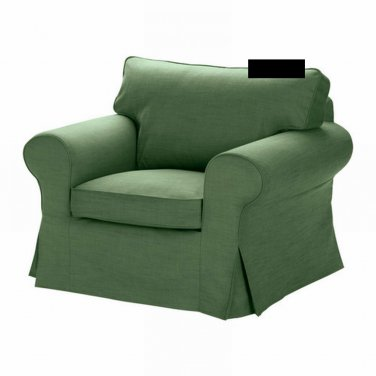 ikea ektorp armchair cover chair slipcover svanby green. Black Bedroom Furniture Sets. Home Design Ideas