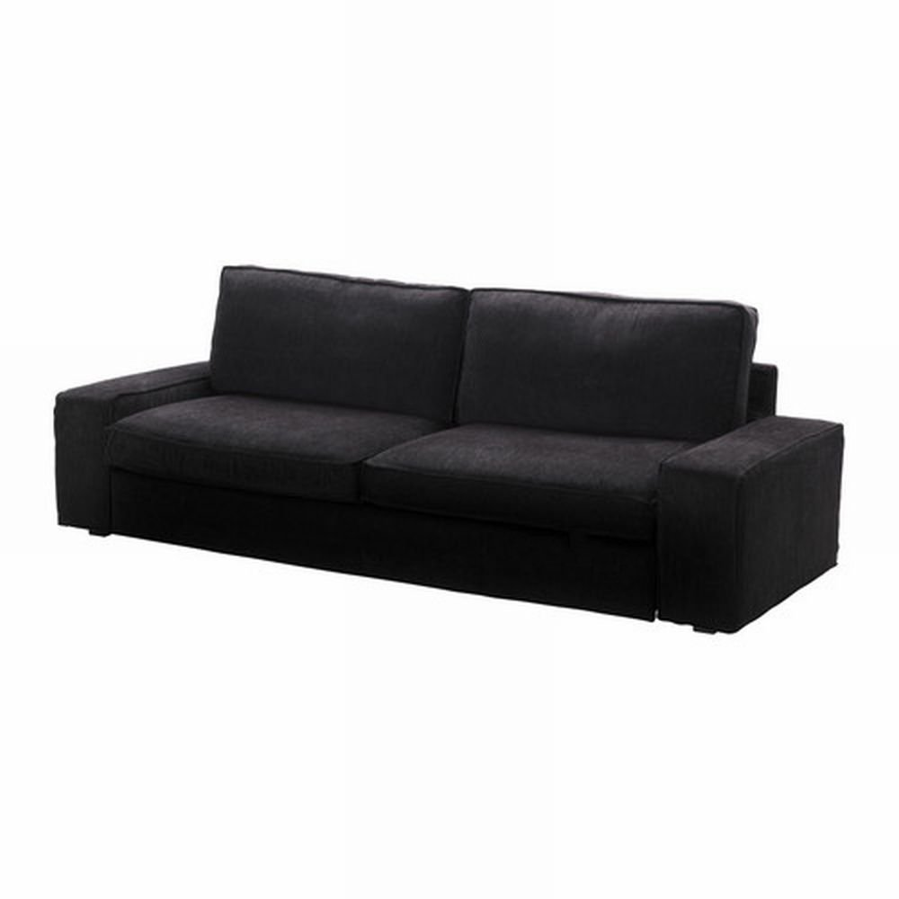 Ikea kivik sofa bed slipcover sofabed cover tranas black for Housse sofa ikea
