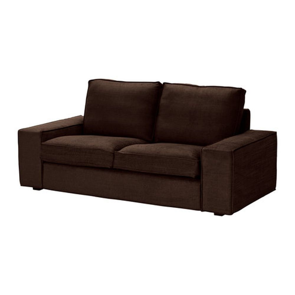 ikea kivik 2 seat loveseat sofa slipcover cover tullinge dark brown bezug housse. Black Bedroom Furniture Sets. Home Design Ideas