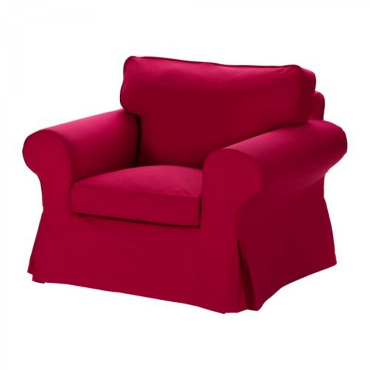 ikea ektorp armchair slipcover chair cover idemo red new. Black Bedroom Furniture Sets. Home Design Ideas