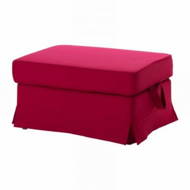 ikea ektorp footstool slipcover idemo red ottoman cover bromma. Black Bedroom Furniture Sets. Home Design Ideas