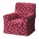 IKEA Ektorp JENNYLUND Armchair SLIPCOVER Cover BRUNFLO RED White FLORAL