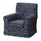 IKEA Ektorp JENNYLUND Armchair SLIPCOVER Cover LAXA BLUE Floral Laxå Chair Cvr