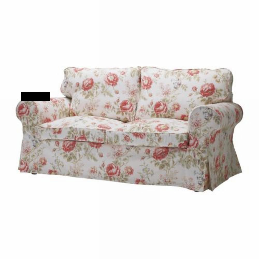 Ikea ektorp sofa bed slipcover cover byvik multi floral for Divani country ikea