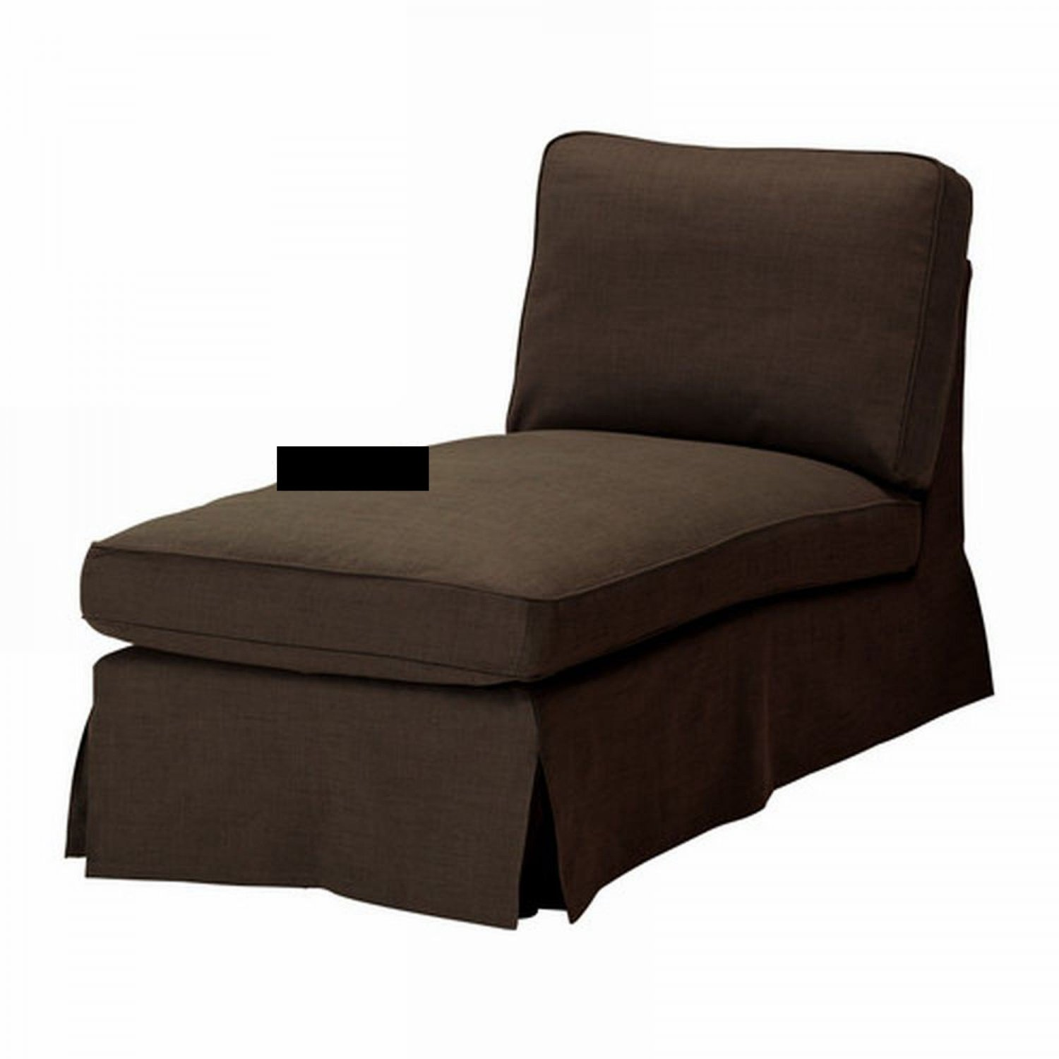 Ikea ektorp chaise longue cover slipcover svanby brown for Chaise lounge covers cotton